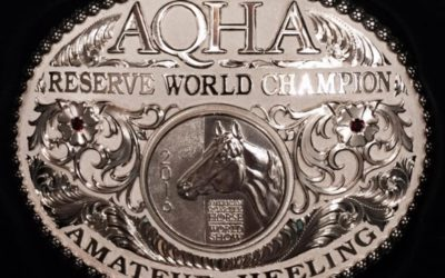 AQHA World Reserve Amateur Heeling Champion!